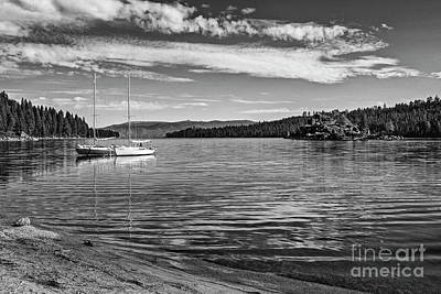 Island Lake Tahoe Photograph - Boats On A Beautiful Calm Day In Lake Tahoe. by Jamie Pham