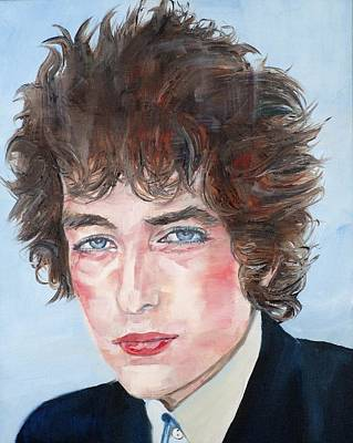 Painting - Bob Dylan - Oil Portrait by Fabrizio Cassetta