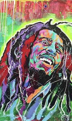 Painting - Bob Marley by Jay V Art