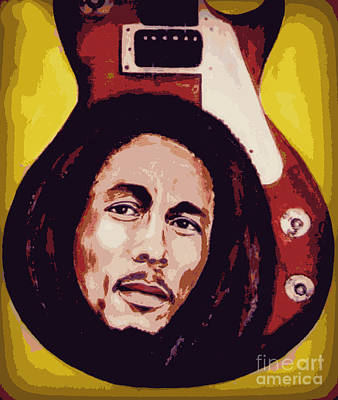 Painting - Bob Marley by Jeepee Aero