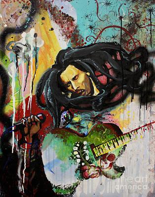 Bob Marley Abstract Painting - Bob Marley by Lauren Penha