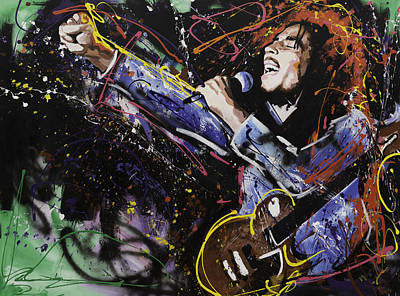 Pop Star Painting - Bob Marley by Richard Day