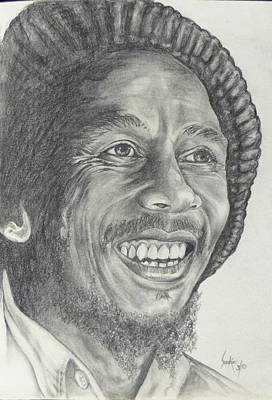 Drawing - Bob Marley by Stephen Sookoo