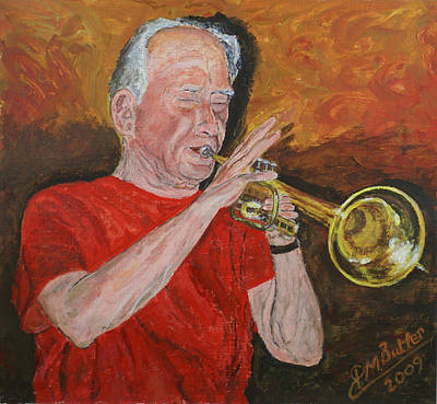 Painting - Bob Thomas At The Long Arm And Short Arm by Peter Mark Butler