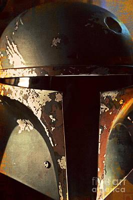 Boba Fett Helmet 21 Art Print by Micah May