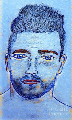 Drawing - Bobby Blue by Manuel Matas