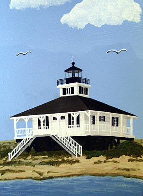 Painting - Boca Grande Inlet Lighthouse by Frederic Kohli