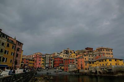 Boccadasse Bay, Genoa, Italy Art Print