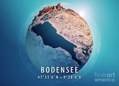 Bodensee 3d Little Planet 360-degree Sphere Panorama Art Print by Frank Ramspott