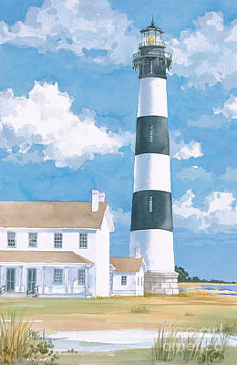 Lookout Painting - Bodie Island Lighthouse by Paul Brent