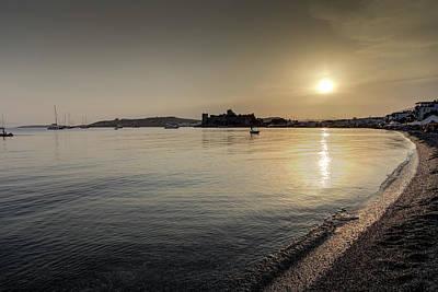 Photograph - Bodrum Bay Sunset by David Pyatt