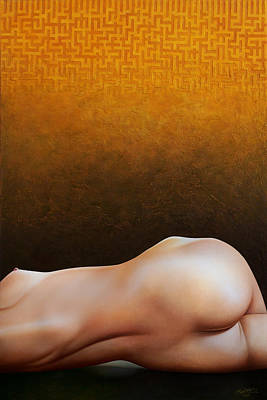 Torso Painting - Bodyscape 1 by Horacio Cardozo