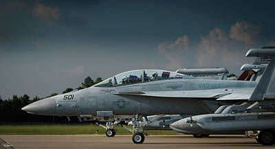 Photograph - Boeing Growlers On The Ramp by Phil Rispin