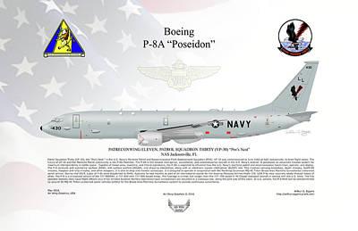 Boeing P-8a Poseidon Art Print