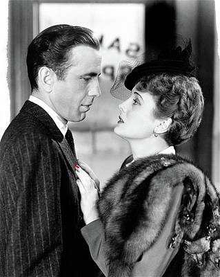 Maltese Falcon Photograph - Bogie And Mary Astor The Maltese Falcon 1940 by David Lee Guss