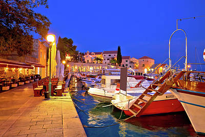 Photograph - Bol On Brac Island Blue Waterfront Evening View by Brch Photography