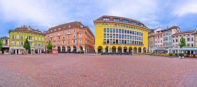 Photograph - Bolzano Main Square Waltherplatz Panoramic View by Brch Photography