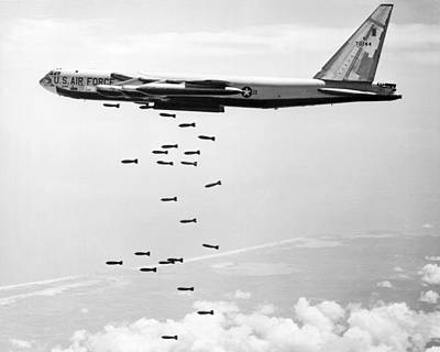 Sixties Photograph - Bombing Vietnam by Underwood Archives