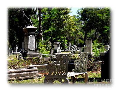 Photograph - Bonaventure Cemetery by Jacqueline M Lewis