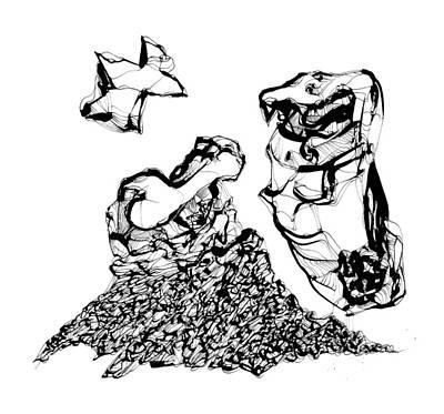Drawing - Bone by Daniel Schubarth
