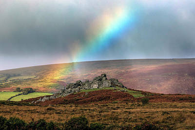 Gel Photograph - Bonehill Rocks - Dartmoor by Joana Kruse