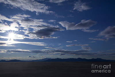 Mellow Yellow Rights Managed Images - Bonneville Salt Flats in Utah Royalty-Free Image by Anthony Totah