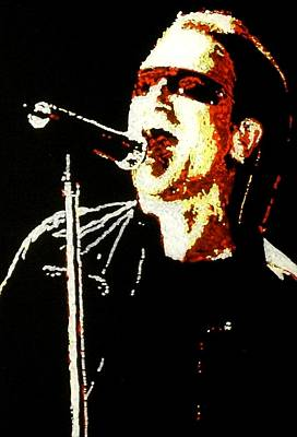 Bono Art Print by Grant Van Driest