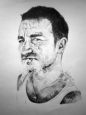 Bono Drawing - Bono by Sean Leonard