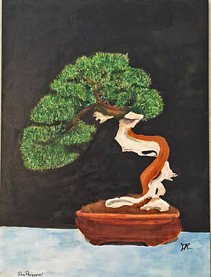 Painting - Bonsai-1 by Donald Paczynski
