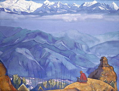 Traquil Painting - Book Of Wisdom by Nicholas Roerich
