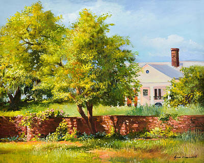 Country Home Wall Art - Painting - Boone Hall Plantation by Jane Woodward