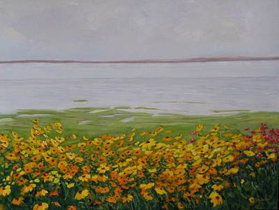 Painting - Bord Du Fleuve by Liliane Fournier