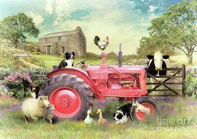 Digital Art - The Farmyard by Trudi Simmonds