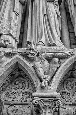 Photograph - Bored Gargoyle by Patricia Hofmeester