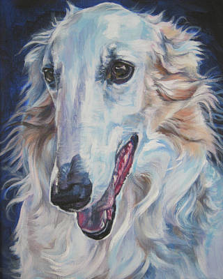 Sighthound Painting - Borzoi by Lee Ann Shepard