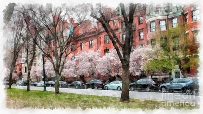 Photograph - Boston Back Bay In Spring by Edward Fielding