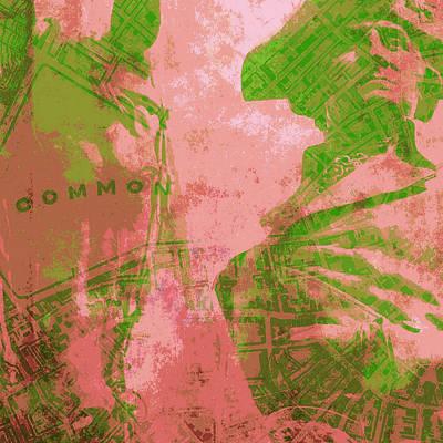 Boston Ma Mixed Media - Boston Common by Brandi Fitzgerald