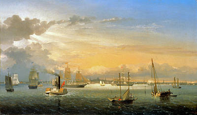 Keith Richards - Boston Harbor by Fitz Hugh Lane