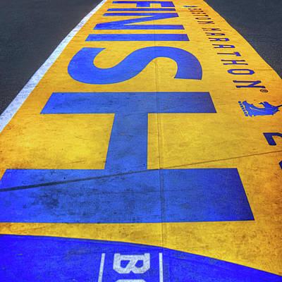Photograph - Boston Marathon Finish Line by Joann Vitali
