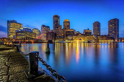 Pier Digital Art - Boston by Michael Petrizzo