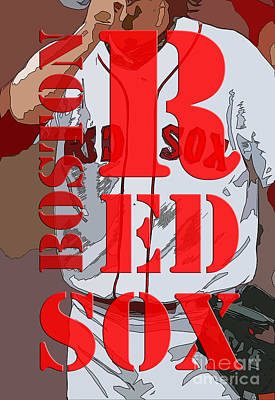 Boston Red Sox Wall Art - Digital Art - Boston Red Sox Original Typography  by Drawspots Illustrations