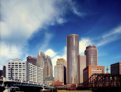 Photograph - Boston Skyline 1980s by L O C