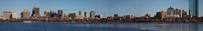 Boston Skyline Panoramic In Winter Art Print