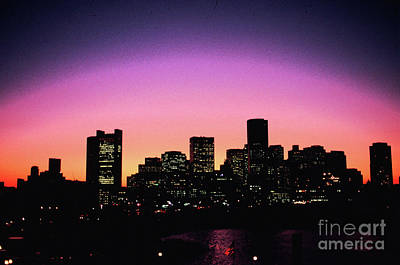 Photograph - Boston Skyline At Sunset From The Harbor by Tom Wurl