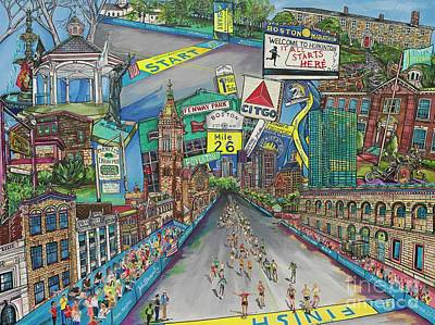 Painting - Boston Strong by Patti Schermerhorn