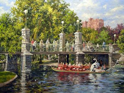 Boston Swan Boat Art Print