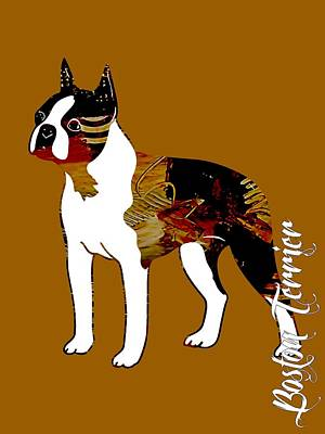 Pet Portraits Mixed Media - Boston Terrier Collection by Marvin Blaine