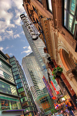 Photograph - Boston Theatre District by Joann Vitali