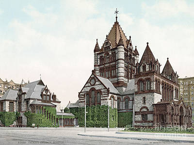 Photograph - Boston, Trinity Church.  by Granger