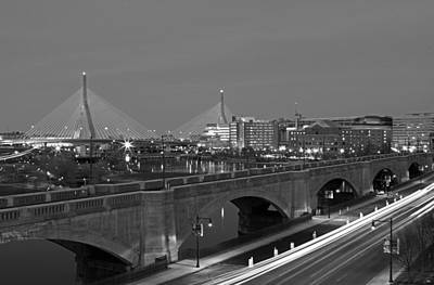 Photograph - Boston Zakim Bridge by Juergen Roth
